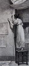 MOREAU ADRIEN, La vendetta, Balzac, en souscription, plaquette, 2 feuillets, dim