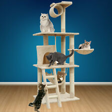 """62"""" Cat Tree Condo House Furniture Scratching Post Scratcher Kitten Play Toy"""