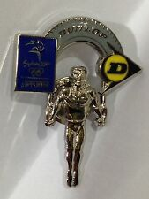 DUNLOP TYRES LOGO SUPPORTERS SYDNEY OLYMPIC GAMES 2000 PIN BADGE COLLECT #560