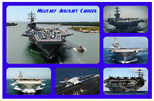MILITARY, AIRCRAFT CARRIER - FUN SOUVENIR NOVELTY FRIDGE MAGNET - GIFT - NEW