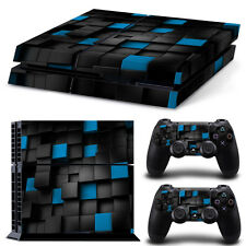 Cubic Skin Sticker Vinyl Cover For PlayStation4 PS4 Console+Controllers skins