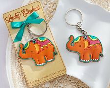 """Lucky Elephant"" Key Chain Key Ring Wedding Favor Reception Gift Party Good Luck"