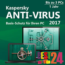KASPERSKY ANTIVIRUS 2017 3 PC / USER / 1JAHR VOLLVERSION HERUNTERLADEN