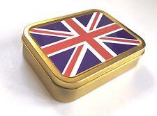 UNION JACK Flag Tobacco Tin 2 oz  Storage Tin