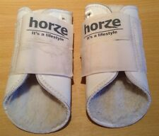 PAIR HORZE BRUSHING BOOTS.  WHITE.  SMALL SIZE.  (Ref: 235 R)