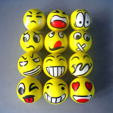 1pc Happy Smile Smiley Face Bouncy Squeeze Foam PU Sponge Ball Stress Relief Toy