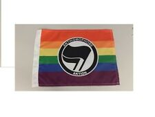 Mini Anonymous Antifa Antifascist flag anti homophobe gay lesbian Anon 4chan