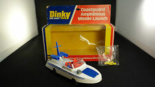 Dinky Toys Gb 674 Costguard Amphibious Missile Launch Boat bateau canot boite
