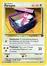 POKEMON EQUIPO ROCKET POCO COMUNES CARTA 48/82 PORYGON (X2 COPIAS) grado 9/10