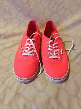 Vans Off The Wall Shoe's Neon Orange Pink Punch Mens 6.5 womens 8 M (box)