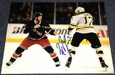 MILAN LUCIC Squares Off & FIGHTS PRUST Auto SIGNED 11x14 Photo BOSTON BRUINS~@@
