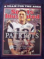 2004 Patriots 3rd Super Bowl 39 Champions Sports Illustrated Tom Brady POSTER