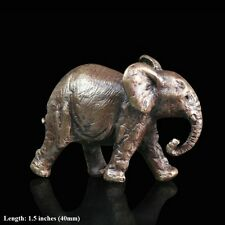 Elephant Solid Bronze Foundry Cast Detailed Sculpture Butler And Peach (2000)