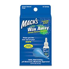 Macks-cera lejos earwax sistema de eliminación con Bombilla Jeringa