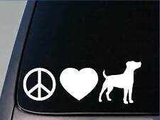 "Peace love Jack Russell sticker *H120* 8"" vinyl parson russell"