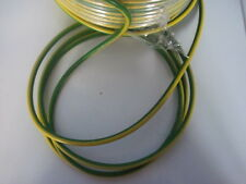 10mm Green And yellow earth bonding cable per meter basec approved brand new
