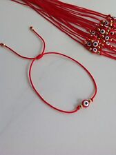 1 Evil Eye Red String Kabbalah Bracelet Goldtone Bead Good Luck Charm Protection