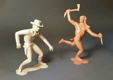 Luis Marx Co. 1964 Large plastic Cowboy and Indian figure