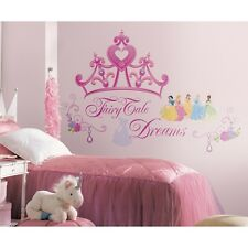 Disney Princess Crown 18 BiG Wall Mural Stickers Pink Tiara Room Decor Decals