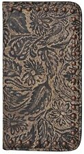 LEATHER WESTERN CELL PHONE CASE IPHONE 6 PLUS BROWN COWGIRL WALLET PHONE CASE