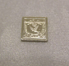 SOLID SILVER STAMP SWITZERLAND 1845 BASEL DOVE