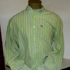 ABERCROMBIE & FITCH MEN'S MUSCLE BUTTON FRONT LONG SLEEVE SHIRT XXL COTTON