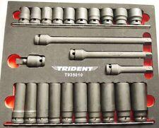 """1/2"""" Unidad de pared delgada impacto Socket Set/Estándar y profundo + extensiones & UJ 24pc T935010"""