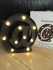 Black Metal @ At Symbol LED Light Battery Wall Freestanding Student Lamp Wedding