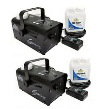 (2) CHAUVET HURRICANE H700 Fog/Smoke Pro Machines w/ Fog Fluid & Remote | H-700