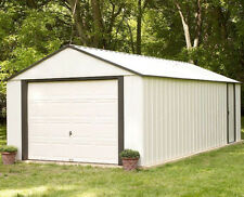 Outdoor Storage Shed Garden Pole Barn Steel Utility Building Tools Vinyl Coated