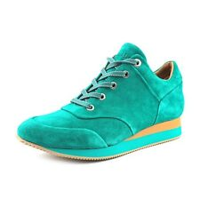 $395 Max Mara Womans Emerald Suede Sneakers Shoes Size 8.5 (39) NEW
