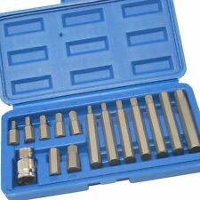 "15pzi Hex Bit Set ALLEN KEY Socket Set 1/2 ""Adattatore Drive in caso 75mm 30mm"
