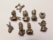"""The Simpsons Pewter Token Game Pieces"""" Lisa & Bart  Homer & Marge, Krusty more!"""