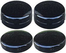 NEW DODGE RAM 3500 1-Ton Truck Dually BLACK Center Hub Cap SET 2 Fronts 2 Rears