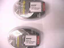 2 Batteries NB-11L NB11L for Canon A2300 A2400 A3400 A4000 A4050 ELPH 110 320 HS
