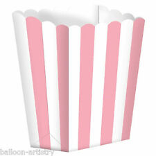 5 Cinema Stripes PINK Treat Party SMALL Candy Favour Popcorn Boxes