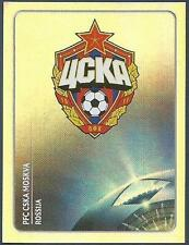 PANINI UEFA CHAMPIONS LEAGUE 2011-12- #090-CSKA MOSCOW TEAM BADGE-SILVER FOIL