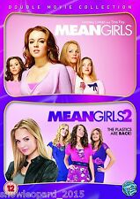 MEAN GIRLS PART 1 AND 2 Movie DVD Hilary Duff Film Brand New Sealed UK Release