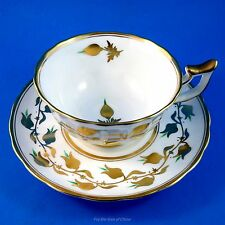 "Royal Chelsea ""Golden Jade"" Tea Cup and Saucer Set"