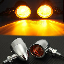 Metal Bullet Turn Signal Indicators Front Tail Lights For Harley Softail Deuce