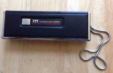 1976 ITT 400 110 MAGICFLASH CAMERA with STORAGE POUCH, MADE in JAPAN, VINTAGE
