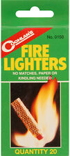 Coghlan's Fire Lighters - 20 Pack Easy Fire Starter All in ONE Camping Survival