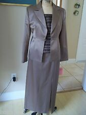 MARIA COCA MOTHER OF THE BRIDE 3pc SUIT SKIRT TOP & JACKET SZ 10-12 RET $1995