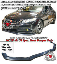 13-15 Civic 4dr A-Style Front Lip (Urethane) [US-Spec Only]