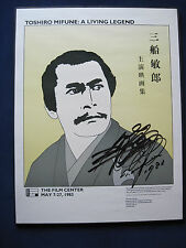 ORIGINAL POSTER - SIGNED by Actor TOSHIRO MIFUNE - A Retrospective of His Films