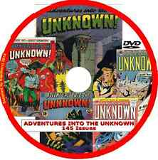 ADVENTURES INTO THE UNKNOWN Comics on DVD 145 issues includes viewing software