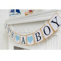 It's a boy Paper Baby Shower Banner Garlands Birthday Party Decoration