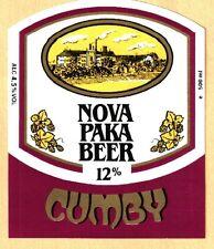 ETICHETTA - NOVA PAKA BEER 12% CUMBY - REPUBBLICA CECA -N. 74