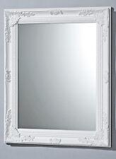 haute qualité MIROIR MURAL EN BLANC MODÈLE BAROQUE 82x62cm miroir MIROIR BAROQUE