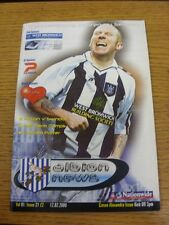 12/02/2000 West Bromwich Albion v Crewe Alexandra  (Excellent Condition)